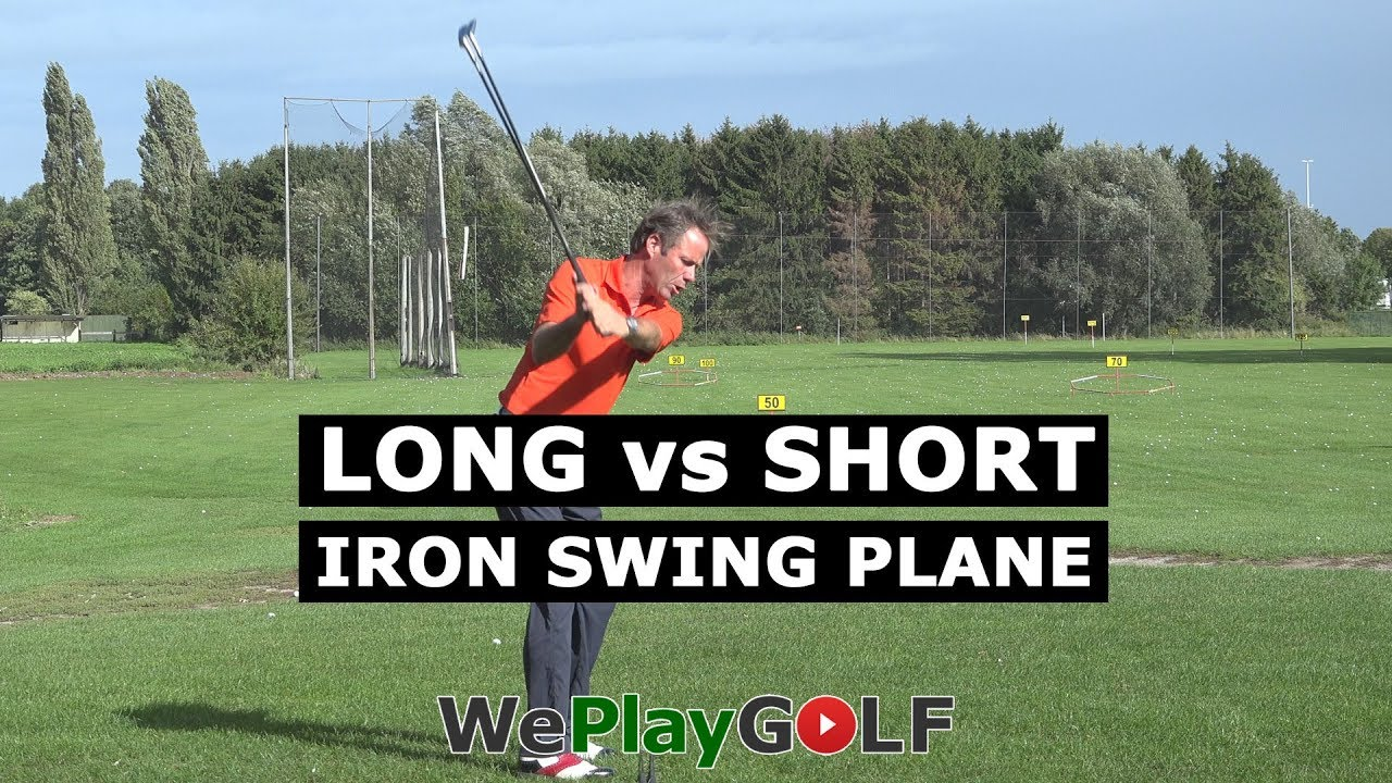 Long iron vs short iron SWING PLANE practice