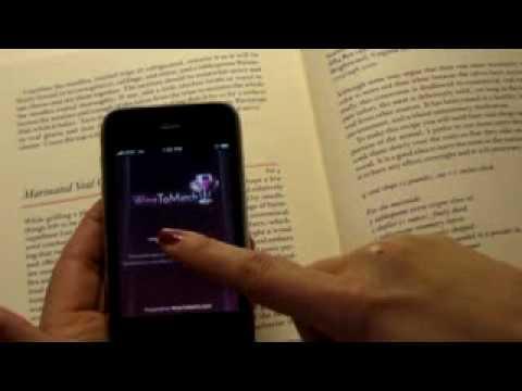 Video of WineToMatch wine pairing app