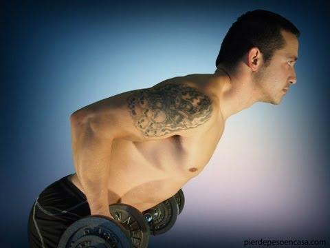 ejercicio para brazos en casa hombres sin pesas
