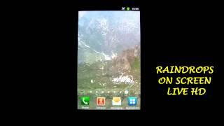 RainDrops on Screen Live HD YouTube video