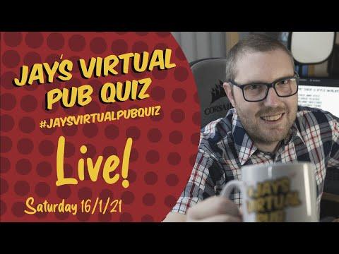 Virtual Pub Quiz, Live! Saturday 16th January