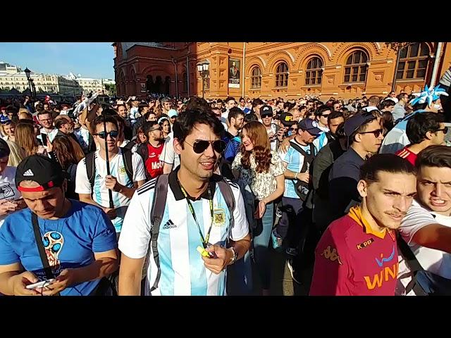 Ótrúleg stemning hjá Argentínu í Moskvu