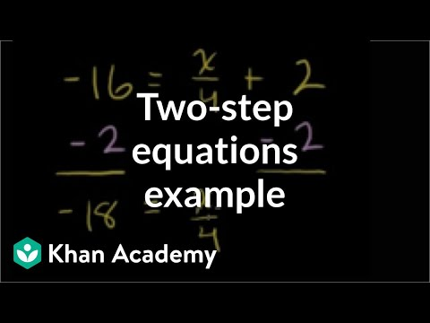 Examples of Math Equations Example Two-step Equation