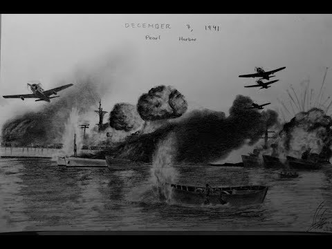 DRAWING PEARL HARBOR ATTACK 1941 | BRAVO