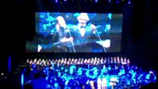 Andrea Bocelli & Delta Goodrem LIVE - Time To Say Goodbye - Vector Arena, Auckland (11 Sep 2014)