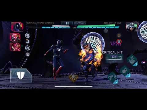Injustice 2 mobile   League raid tier 8   MV vs CC 27,1mil DMG
