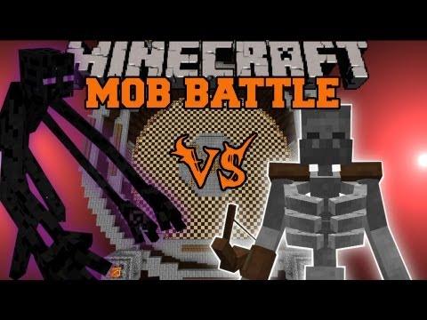 MUTANT ENDERMAN VS MUTANT SKELETON - Minecraft Mob Battles - Mutant Creatures Mod