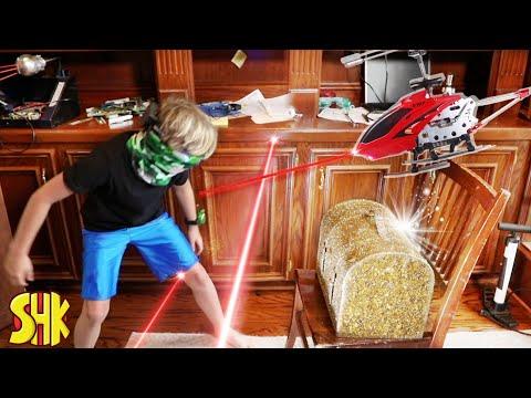 SuperHeroKids Spy Kids Mystery Treasure Box Heist | Funny Family Videos Compilation