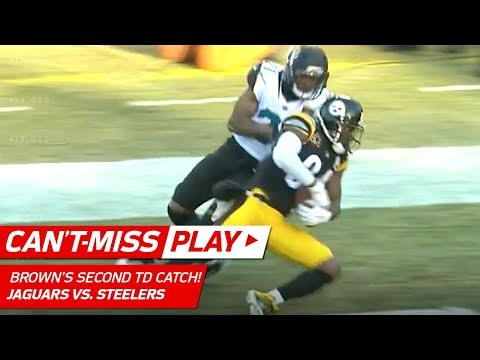 Video: AB Hauls in Clutch TD Pass from Big Ben on 4th Down! | Can't-Miss Play | NFL Divisional Round HLs