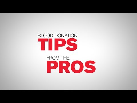 Blood Donation Tips From The Pros