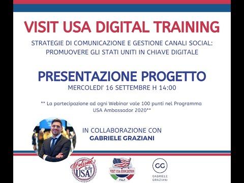 Video PRESENTAZIONE PROGETTO: DIGITAL TRAINING VISIT USA