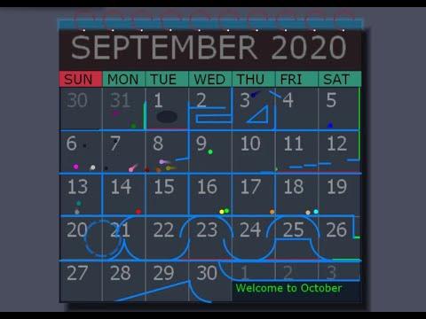 The September Rush | Marble Calendar Race | Algodoo Marble Race