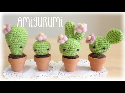 amigurumi tutorial to make a crocheted cactus