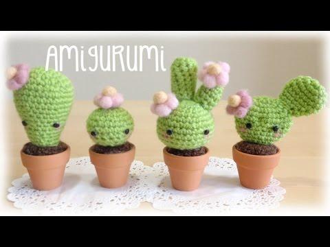 amigurumi tutorial to make a crocheted cactus