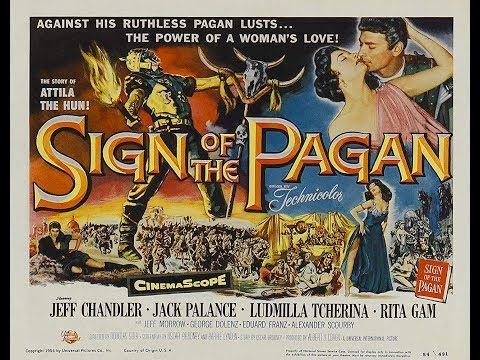 SIGN OF THE PAGAN, 1954. Trailer in English.