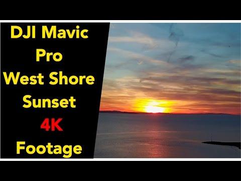 DJI Mavic Pro Footage 4K - Sunset at the west shore Llandudno