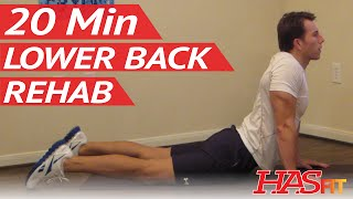 20 Min Lower Back Rehab - HASfit Lower Back Stretches For Lower Back Pain Exercises Workouts