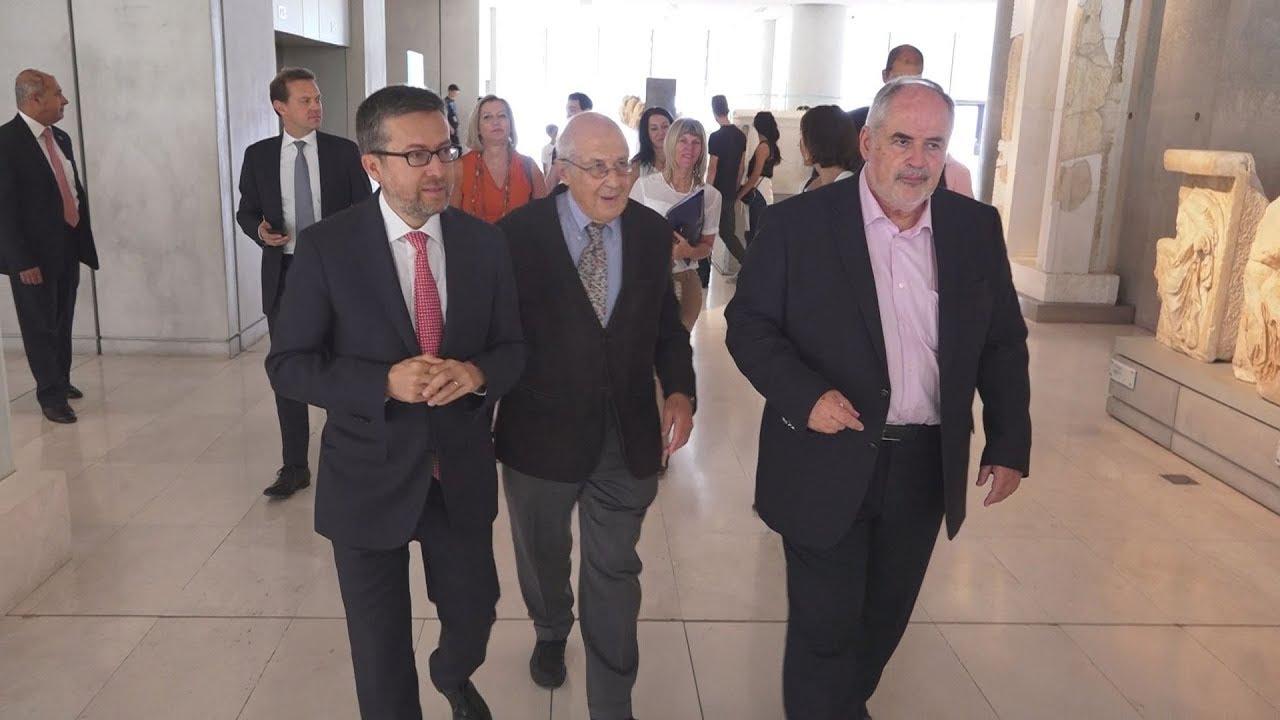 Επίσκεψη του Ευρωπαίου επίτροπου κ. Μοέδας στo Μουσείο της Ακρόπολης