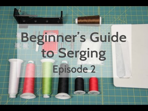 Beginner's Guide to Serging (Ep 2): Tools & Changing The Needles