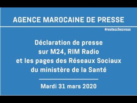 Déclaration de presse au siège du ministère de la santé – 31 mars