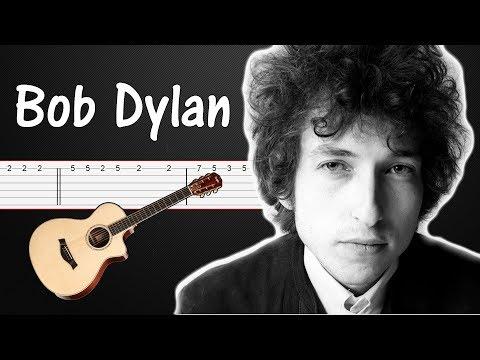 Knockin' On Heavens Door - Bob Dylan | Guitar Tabs Tutorial (Fingerstyle, chords)