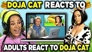 Doja Cat Reacts To Adults React To Doja Cat (I'm a Cow, Tia Tamera)