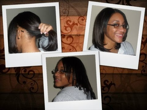 Sew in Weave (Natural look) - Wear up in a ponytail / Wear it down