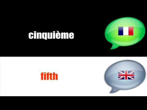 SURVIVAL FRENCH : ORDINAL NUMBERS