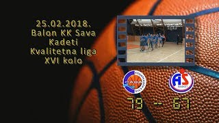 kk sava kk as basket 79 67 (kadeti, 25 2 2018 ) košarkaški klub sava
