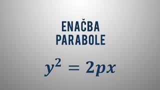 Enačba parabole v temenski obliki