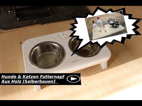 Hunde & Katzen Futternapf Aus Holz [Selberbauen]
