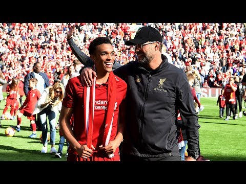 The Reds Take A Post-match Lap Of Appreciation At Anfield