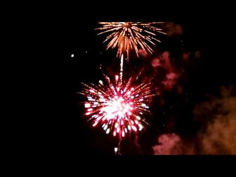 Queima de fogos na orla de Presidente Epitácio 2008