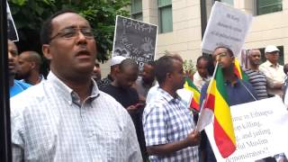 Ethiopians Protest Washington DC. August 19, 2013