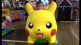 ABCkidTV Misa with Picachu and Toys Car Indoor playground for children - Video for kids