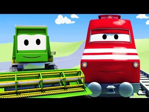 Troy le Train et la Moissonneuse batteuse à Car City | Dessin animés pour enfants