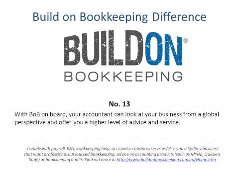 The Build on Bookkeeping difference