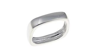 Sevilla Silver Stackable Square Band Ring