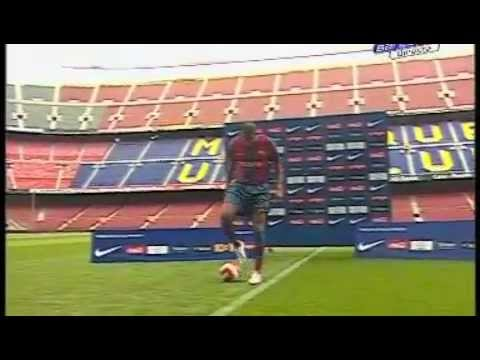 Thierry Henry Presentation At Barcelona