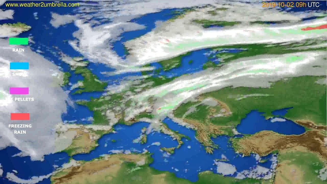 Precipitation forecast Europe // modelrun: 12h UTC 2019-09-30
