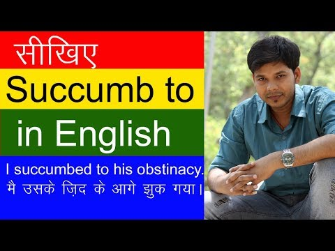 USE OF SUCCUMB TO IN ENGLISH SPEAKING