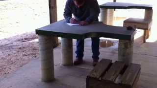Guin (AL) United States  city photos gallery : Benches at Sam Murphy WMA Rifle Range - Guin AL