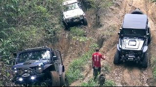 Modified Nissan Patrol GQ, Jeep Wrangler JK and Land Rover defender offroading on a hard track in Glass House Mountains called Ho Chi Minh track. Organised by JK Outcast crew. Visit their FAcebook page:https://www.facebook.com/JK-Outcasts-Jeep-Crew-173819229302105/Part 2 is coming soonFor more Go4x4 videos please subscribe to our channel:http://www.youtube.com/go4x4mediaOr follow us on Facebook:http://www.facebook.com/go4x4mediaInstagram:https://instagram.com/go_4x4/