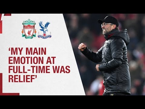 Video: Klopp's Crystal Palace reaction | 'My main emotion was relief'
