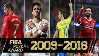 Video FIFA PUSKAS AWARD Los Mejores Goles de cada año 2009-2018 MP3, 3GP, MP4, WEBM, AVI, FLV Agustus 2019