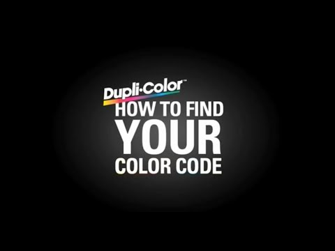 Find Your Color Code: Chrysler, Dupli-Color Paint
