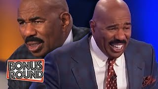 Video 10 FAMILY FEUD PODIUM ANSWERS & MOMENTS Steve Harvey Got Confused Or Laughed Over! MP3, 3GP, MP4, WEBM, AVI, FLV Juli 2019