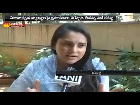 Wont Apologise, Says Actor Ramya, Accused Of Sedition For Pakistan Comment