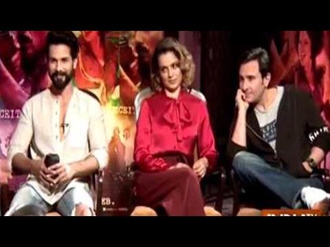 IndiaTV Exclusive: Shahid, Kangna and Saif talk about their upcoming movie 'Rangoon'