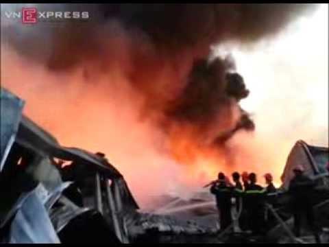 Clip vụ cháy nhà máy Diana Bắc Ninh